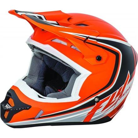 Kask FLY RACING KINETIC FULL SPEED kolor czarny/pomarańczowy rozm L