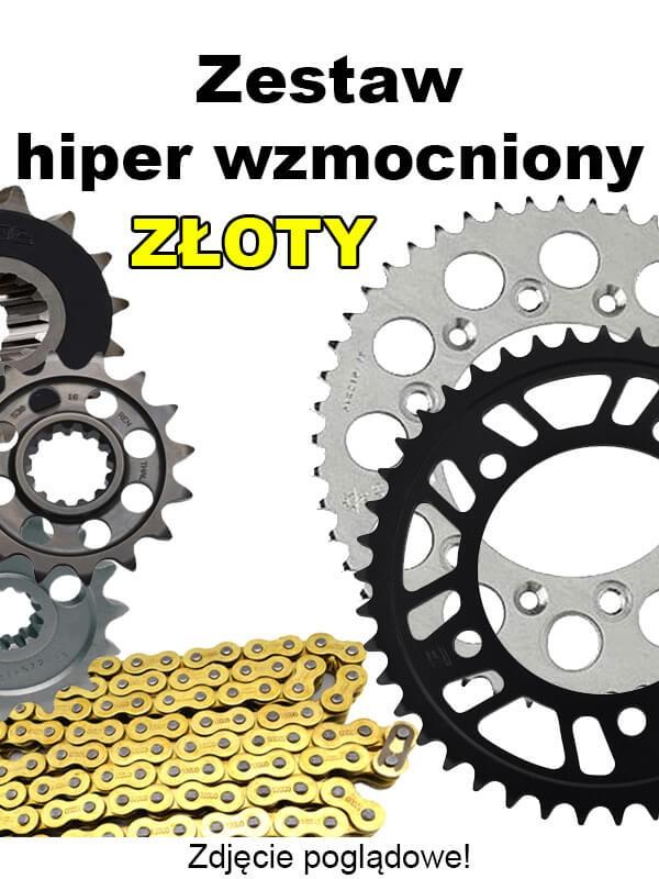 Image of Yamaha Wr 450F 2010-2017 Zestaw Napędowy Did Hiper Wzmocniony Złoty Bezoring Yamaha 2016 450 Wr 450