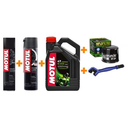 Olej MOTUL 5100 10W40 4L + FILTR + C2+ + C1 + szczotka